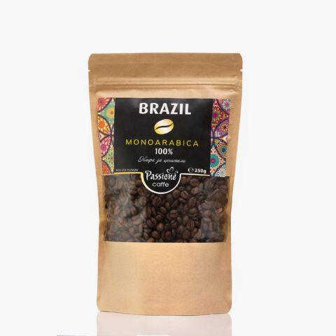 Кафе моноарабика Бразилия 250 гр. на зърна